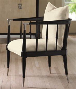 Caracole Classic White / Tuxedo Black Accent Chair CACUPHCHAWOO54B