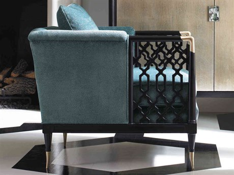 Caracole Classic Blue / Tuxedo Black Accent Chair