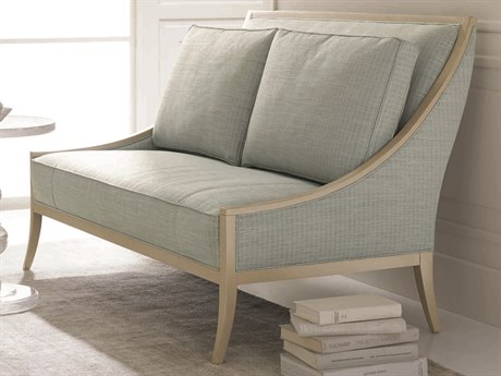 Caracole Classic Pale Blue / Powder Puff Settee Loveseat CACUPH416181A