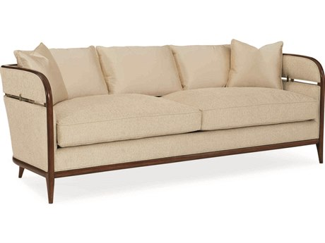 Caracole Classic Cream Sofa with Bracklet CACUPH016115A