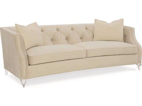 Caracole Classic Cream Tuxedo Sofa CACUPH416011A