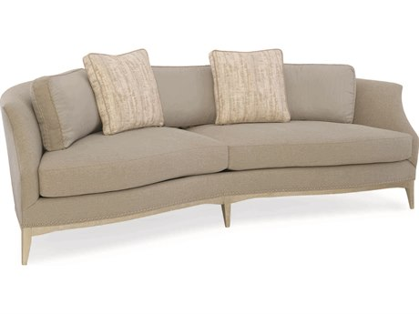 Caracole Classic Grey / Artistique Curved Sofa CACUPH416012A