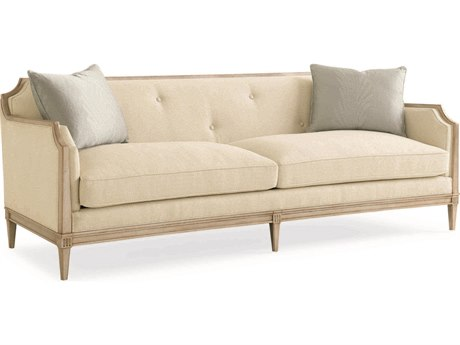 Caracole Classic Ivory / Rose Gold Sofa CACUPH416113A