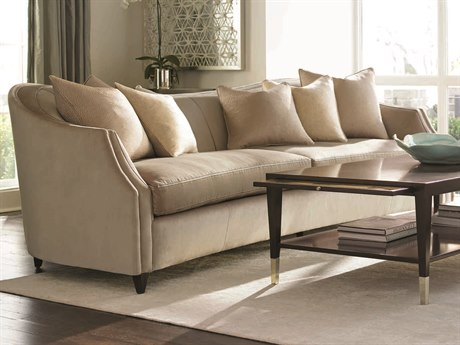 Caracole Classic Soft Camel / French Roast Curvaceous Sofa CACUPHSOFFUL49A