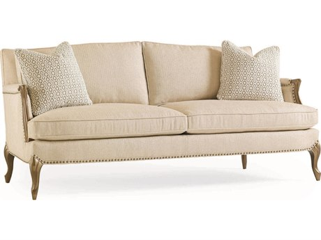Caracole Classic Soft Bisque / Mineral French Sofa CACUPHSOFWOO45A