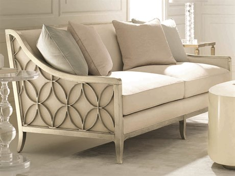 Caracole Classic Ivory / Pure Silver Sofa CACUPHSOFWOO62B