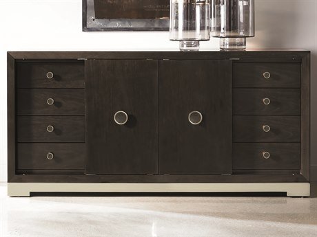 Caracole Modern Uptown Smoked Peppercorn with Jazzy Taupe 67''W x 19''D Rectangular Sideboard CAMM012016213
