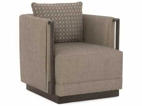 Four Hands Grass Roots Grey Wash Banana Leaf Accent Chair