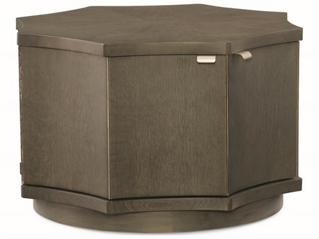 Caracole Modern Uptown Heathered Oak 26'' Wide Hexagon Cocktail Table CAMM011016406