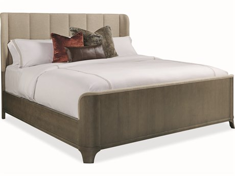 Caracole Modern Uptown Heathered Oak Queen Size Panel Bed CAMM013016101