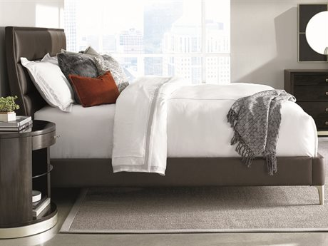 Caracole Modern Uptown Brown California King Size Platform Bed CAMM013016143