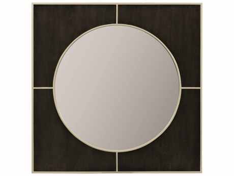 Caracole Modern Uptown Smoked Peppercorn with Jazzy Taupe 30'' Wide Square Wall Mirror CAMM011016041