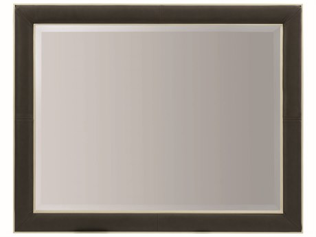 Caracole Modern Uptown Smoked Peppercorn with Jazzy Taupe 48''W x 38''H Rectangular Wall Mirror CAMM011016042