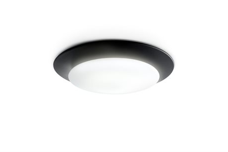 Carpyen Oslo Black 21'' Wide LED Flush Mount Light CRPOSLOWALLBLACK