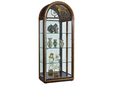 Carson Aria Brown/ Aged Gold China Cabinet