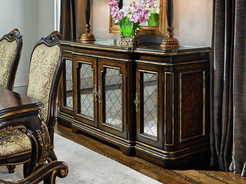 Carson Aria Antique Mirror / Aged Gold Buffet