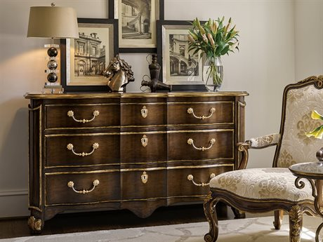Carson Aria Brown / Aged Gold Six-Drawer Double Dresser