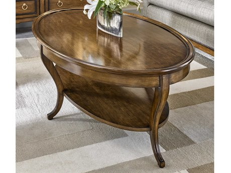 Carson Cadence Brown 56'' Wide Oval Coffee Table