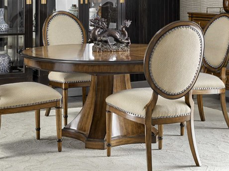 Carson Cadence Brown 82'' Wide Round Dining Table CARCCA08