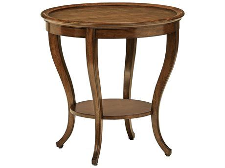 Carson Cadence Brown 28'' Wide Round End Table CARCCA042