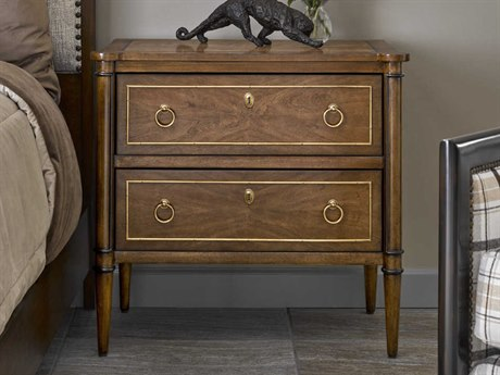 Carson Cadence Brown Two-Drawer Nightstand