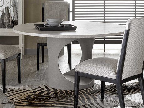 Carson Ensemble / Linen 60'' Wide Round Dining Table CARCEN08