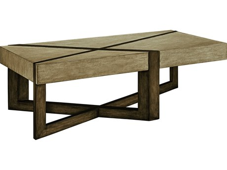Carson Harmony Taupe / Grey 60'' Wide Rectangular Coffee Table CARCHA011