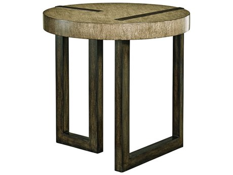 Carson Harmony Taupe / Grey 28'' Wide Round End Table CARCHA041