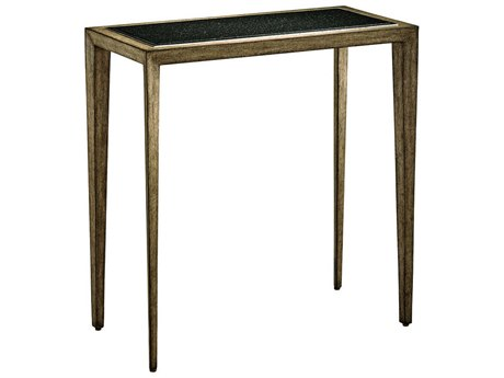 Carson Harmony Polished Black Granite / Taupe / Grey 24'' Wide Rectangular End Table CARCHA302