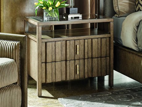 Carson Harmony Taupe / Grey Two-Drawer Nightstand CARCHA12