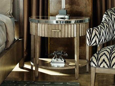 Carson Harmony Polished Black Granite / Taupe / Grey One-Drawer Nightstand CARCHA13