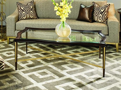 Carson Lyric Clear / Brown 56'' Wide Rectangular Coffee Table CARCLY011