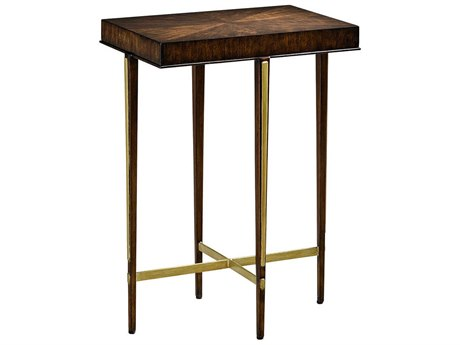 Carson Lyric Brown / Cashmere Gold 17'' Wide Rectangular End Table CARCLY301