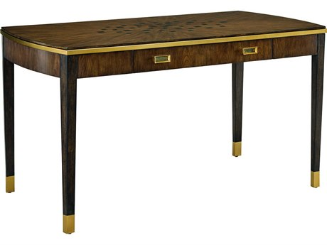 Carson Lyric Brown / Satin Brass Secretary Desk