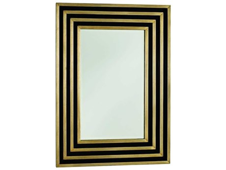 Carson Lyric Black / Cashmere Gold Wall Mirror CARCLY17