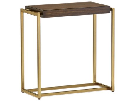 Carson Melody Brown / Satin Brass 24'' Wide Rectangular End Table CARCME30