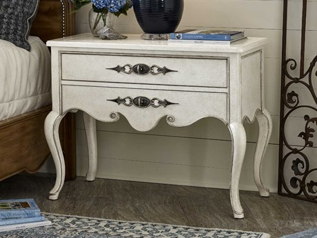 Carson Sonata Antique White Two-Drawer Nightstand