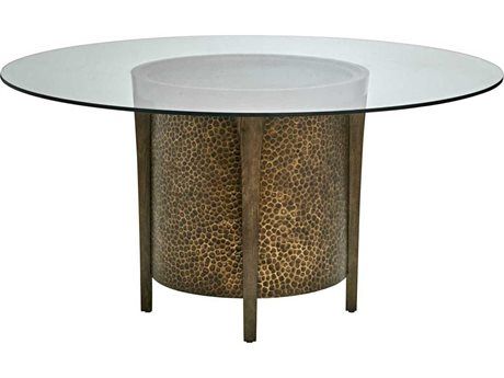 Carson Tempo Metallic Bronze Round Dining Table CARCTE08