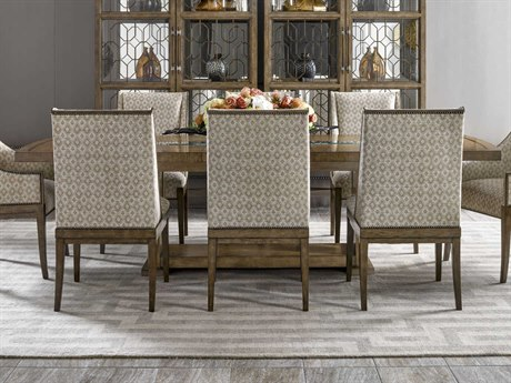 Carson Tempo Taupe 108'' Wide Rectangular Dining Table