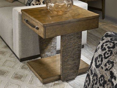 Carson Tempo Taupe 24'' Wide Rectangular End Table CARCTE04