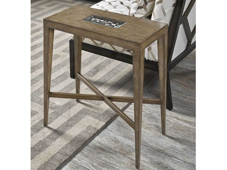Carson Tempo Taupe 12'' Wide Rectangular End Table CARCTE30