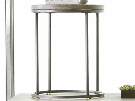 Palliser Case Goods Julien Natural / Weathered 20'' Round End Table with Acacia Wood Top CX836035ACG