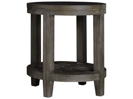 Palliser Case Goods Bravo Platinum Oak 19'' x 24'' Oval End Table with Glass Top