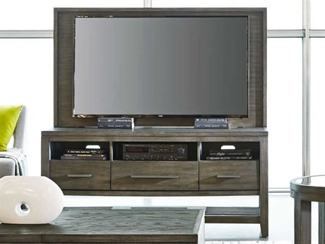 Palliser Case Goods Bravo Platinum Oak Three-Drawer 60'' x 19'' Entertainment Console & Back Panel CX237012KE