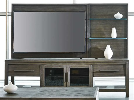 Palliser Case Goods Bravo Platinum Oak Two-Drawer / Two-Door 80'' x 19'' Entertainment Console & Back Panel CX237013KE