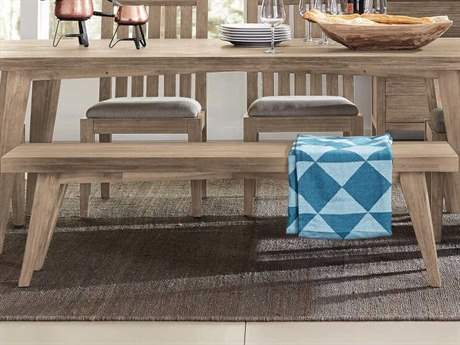 Casana Harbourside Weathered Acacia / Almond Fabric Dining Bench CX372135