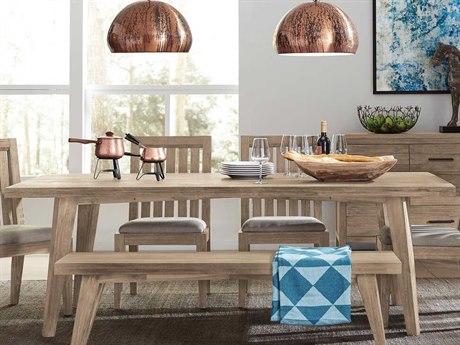 Casana Harbourside Weathered Acacia 86'' x 42'' Rectangular Dining Table CX372150