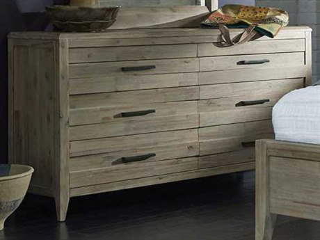 Palliser Case Goods Casablanca Weathered Acacia Six Drawer Dresser with Concealed Top Drawers CX372458