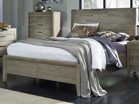 Palliser Case Goods Casablanca Weathered Acacia Queen Size Horizontal Slat Panel Bed CX372920KQ