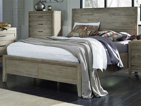Palliser Case Goods Casablanca Weathered Acacia King Size Horizontal Slat Panel Bed CX372930KK